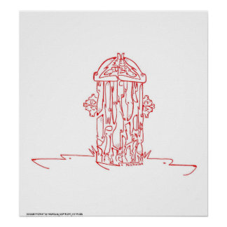 DOGGIE HYDRANT POSTERS
