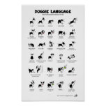 "DOGGIE LANGUAGE Large Poster *NEW!* 23"" x 35"""