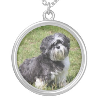 DOGGIE LOVE SILVER PLATED NECKLACE