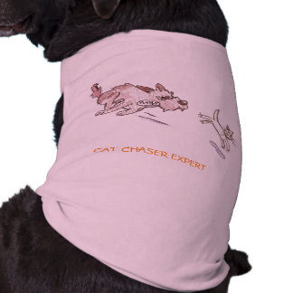DOGGIE RIBBED TANK TOP - CAT CHASER SLEEVELESS DOG SHIRT