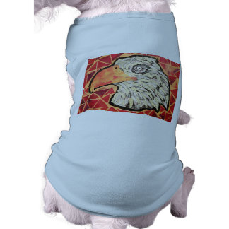Doggie Ribbed Tank Top with Bright Eagle Design Sleeveless Dog Shirt