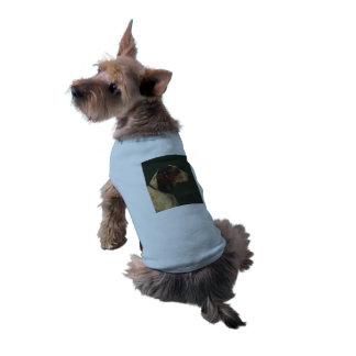 Doggie Ribbed Top dog vintage illustration Sleeveless Dog Shirt