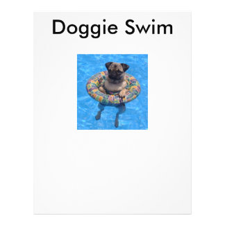 Doggie Swim 21.5 Cm X 28 Cm Flyer