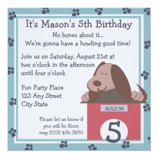 Doggie Tales Party 13 Cm X 13 Cm Square Invitation Card