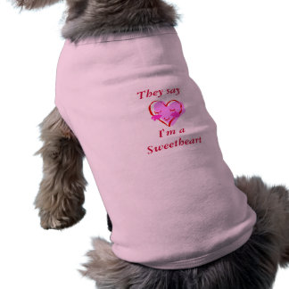 Doggie Valentine's Day Shirt Sleeveless Dog Shirt