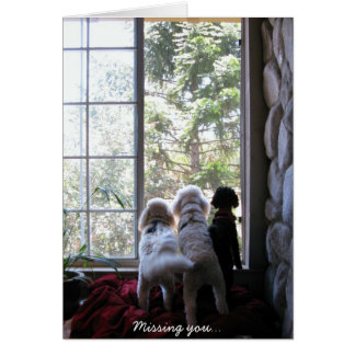 Doggies missing you card