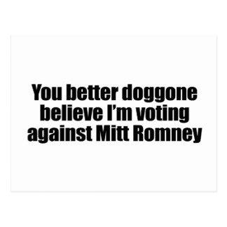 DOGGONE AGAINST MITT ROMNEY png Post Cards