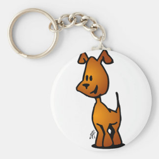 Doggy Basic Round Button Key Ring