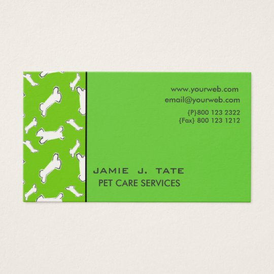 Doggy Bones Business Card