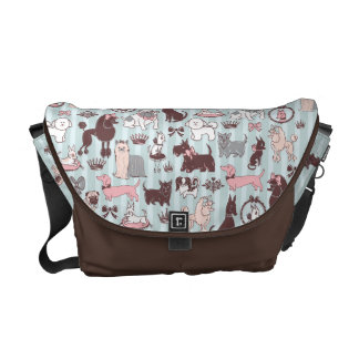 Doggy Boudoir Messenger Bag by Fluff