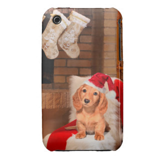 Doggy Christmas iPhone 3 Covers