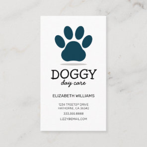 Doggy Day Care | Dog Walker | Pet Sitter Business Card
