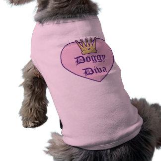 Doggy Diva Heart Crown Doggy Shirt Sleeveless Dog Shirt