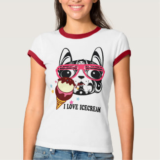 doggy dog icecream puppystyle fashion T-shirt