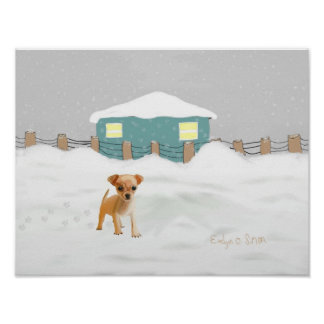 Doggy in the snow Print