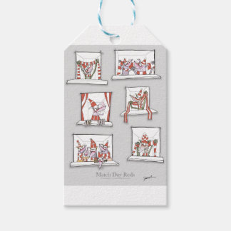 doggy match day reds gift tags