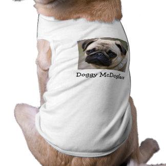 Doggy McDogface Pug Sleeveless Dog Shirt