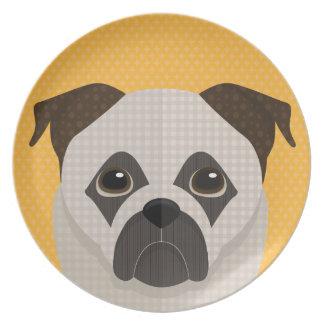 Doggy portrait plate