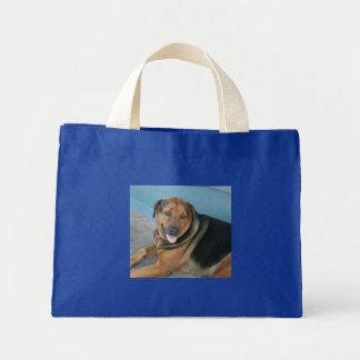 Doggy pose mini tote bag