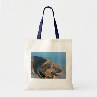 Doggy pose budget tote bag