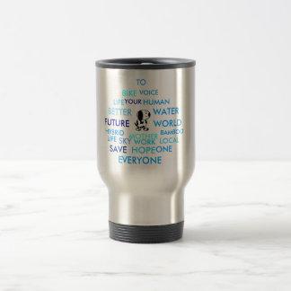 Doggy raindrop stainless steel travel mug