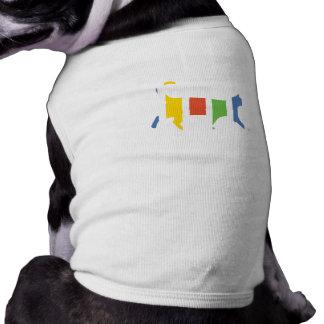 Doggy Shirt with a cat illustration. Sleeveless Dog Shirt