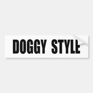 Doggy Style Bumper Sticker