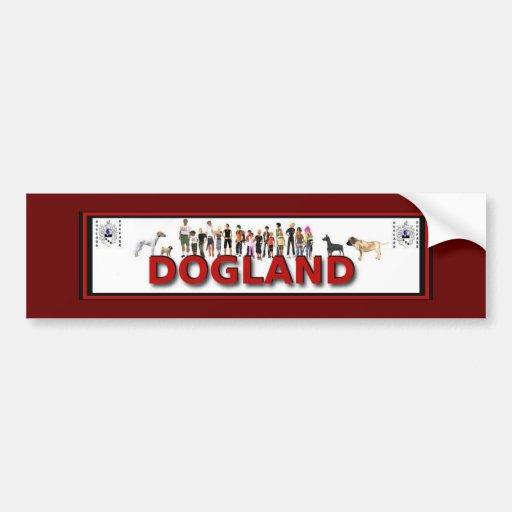 Dogland Car Bumper Sticker