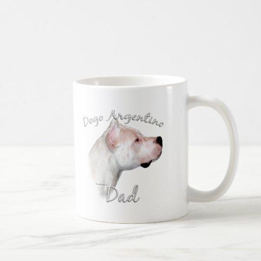 Dogo Argentino Dad 2 Classic White Coffee Mug