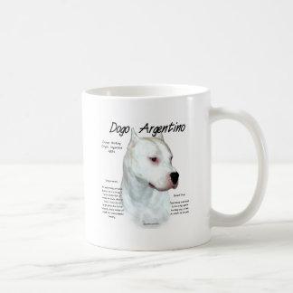 Dogo Argentino History Design Basic White Mug