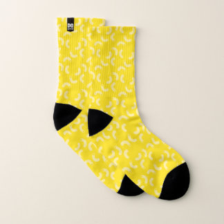 DOgood Macaroni Yellow Socks Small 1
