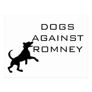 Dogs Against Romney Postcard