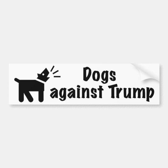 Dogs against Trump Bumper Sticker