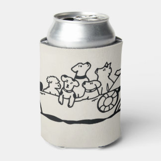 """""""Dogs and Boats"""" Can Cooler by Willowcatdesign"""