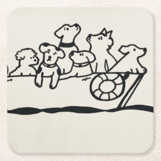 """""""Dogs and Boats""""  Coasters"""