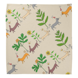 Dogs and Cats and Plants Bandana