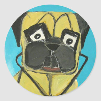 dogs and cats by eric ginsburg round stickers