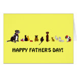 Dogs and Cats Father's Day Card