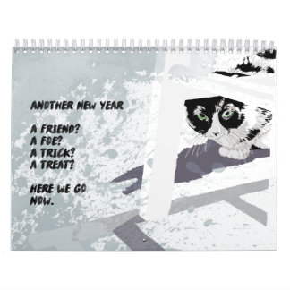 Dogs and cats Illustration wall calendar