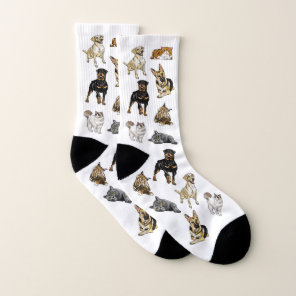 Dogs and Cats Mix Socks