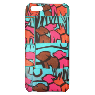 Dogs and Cats Paintings Case For iPhone 5C