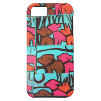 Dogs and Cats Paintings iPhone 5 Covers