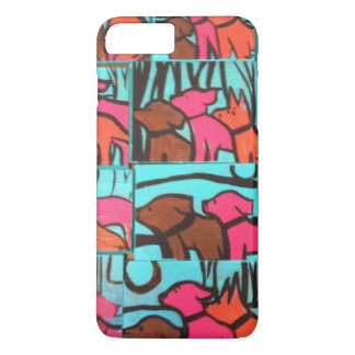 Dogs and Cats paintings iPhone 7 Plus Case