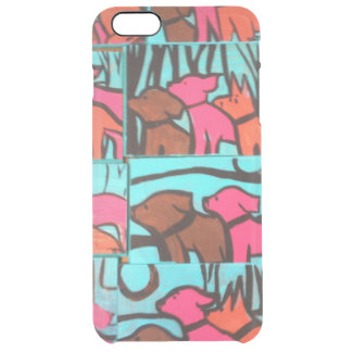 Dogs and Cats Paintings Uncommon Clearly™ Deflector iPhone 6 Plus Case