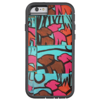 Dogs and Cats Paintings Tough Xtreme iPhone 6 Case