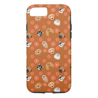 Dogs and Flowers Rust iPhone 7 Case