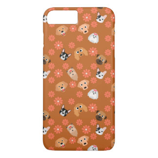 Dogs and Flowers Rust iPhone 7 Plus Case