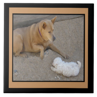Dogs and Friendship Tile