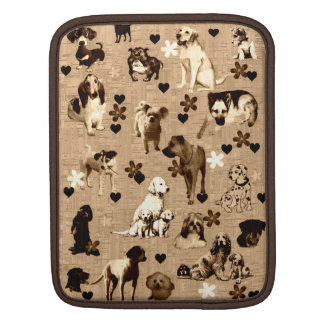 Dogs and Hearts iPad Sleeve