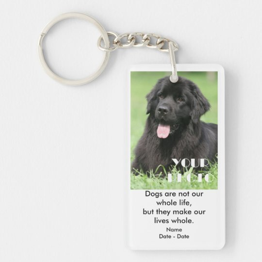 Dogs And Life Pet Memorial Keychain